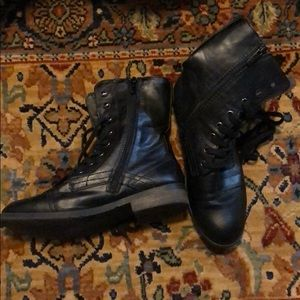 Black Motorcycle Boots